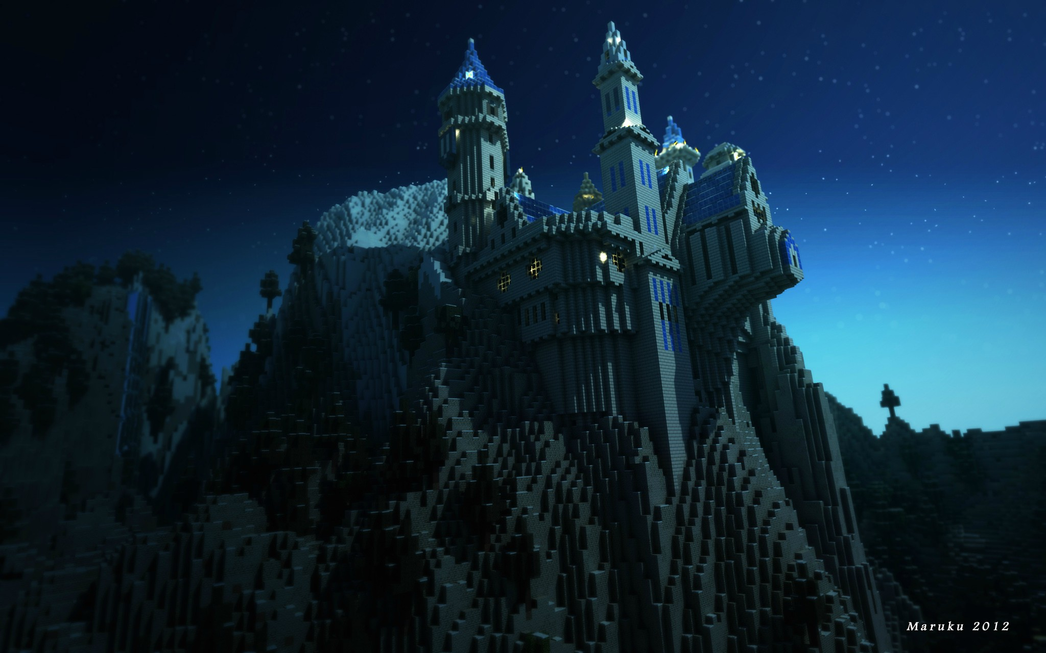 Minecraft Castle Wallpaper Image