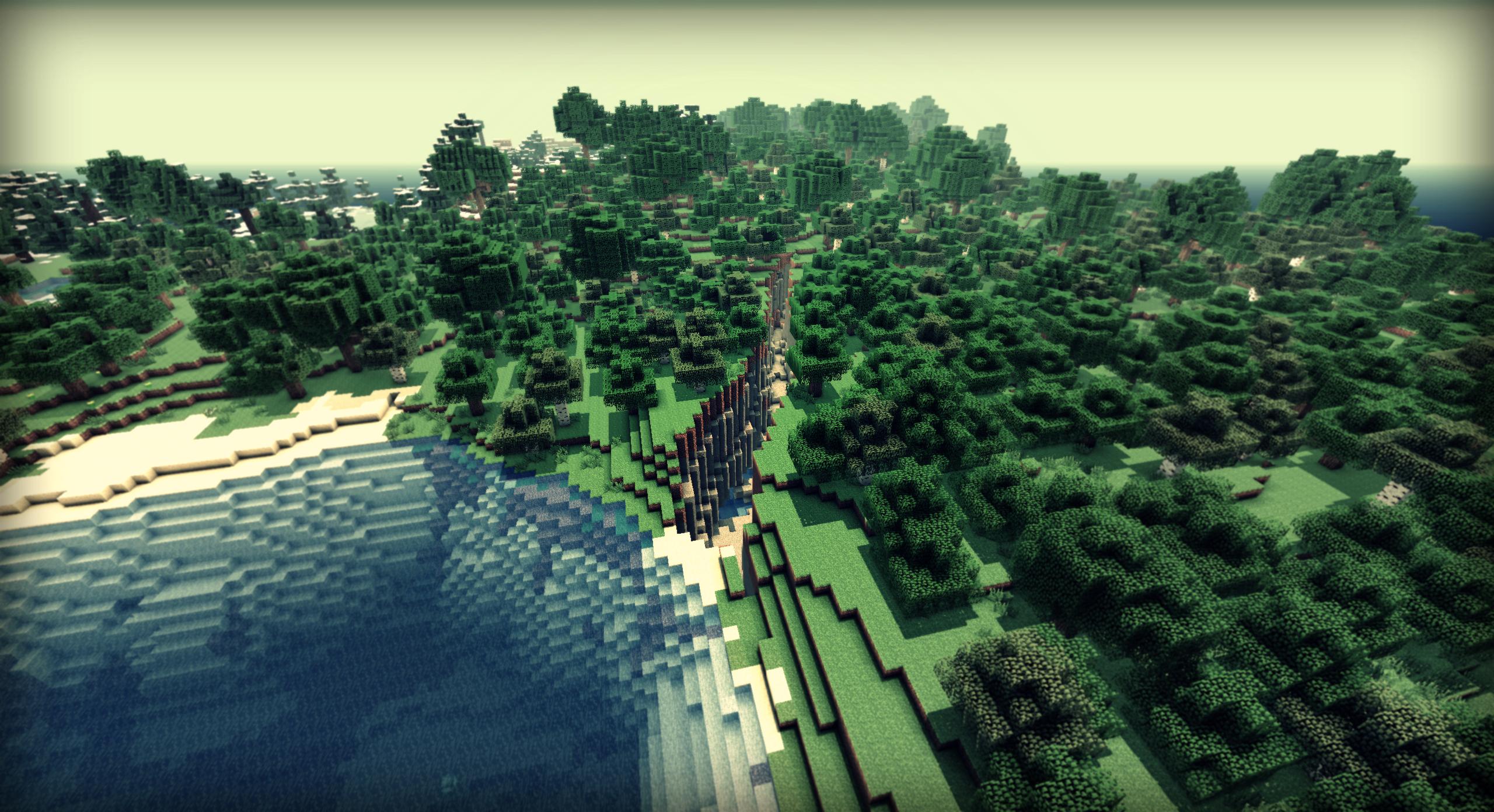 Fond d'écran Minecraft : Une Ouverture sur le Monde