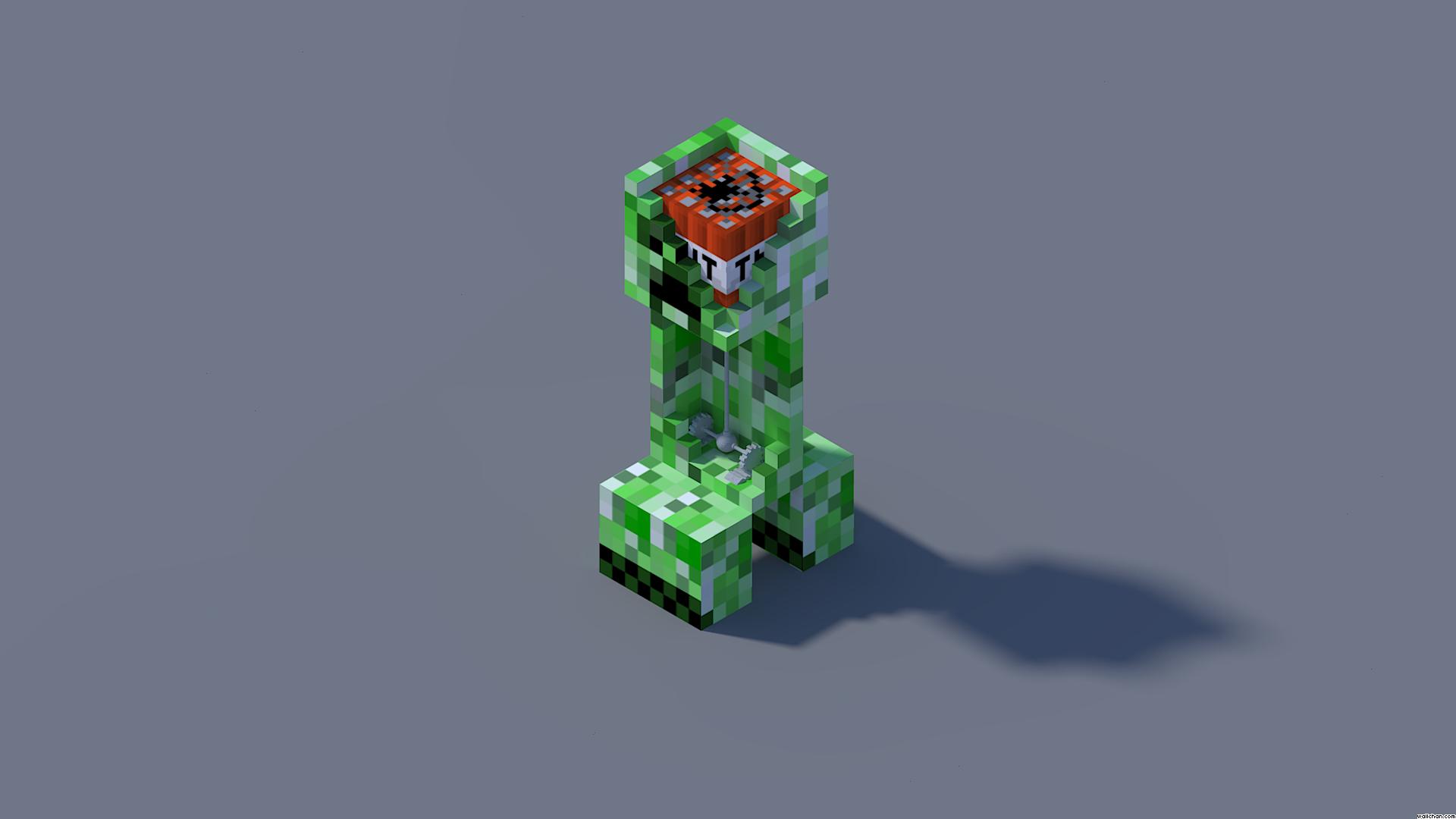 Fond Décran Minecraft Anatomie Dun Creeper
