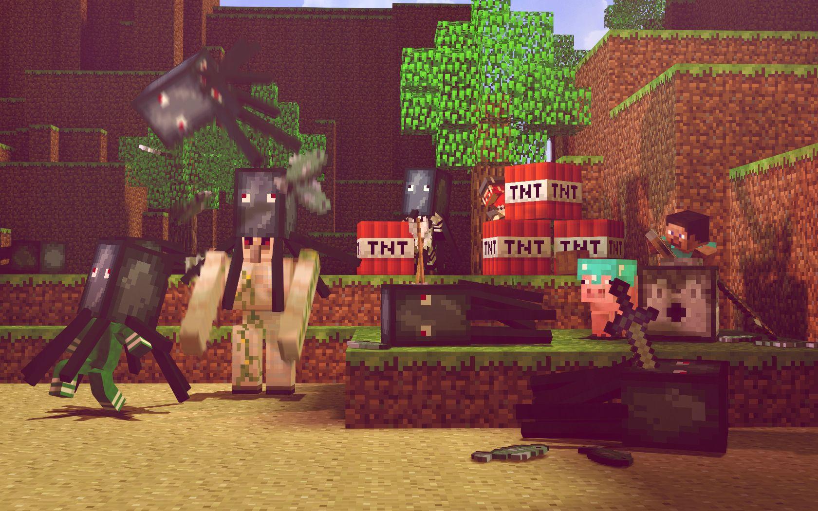 Fond Décran Minecraft La Fête Du Calamar