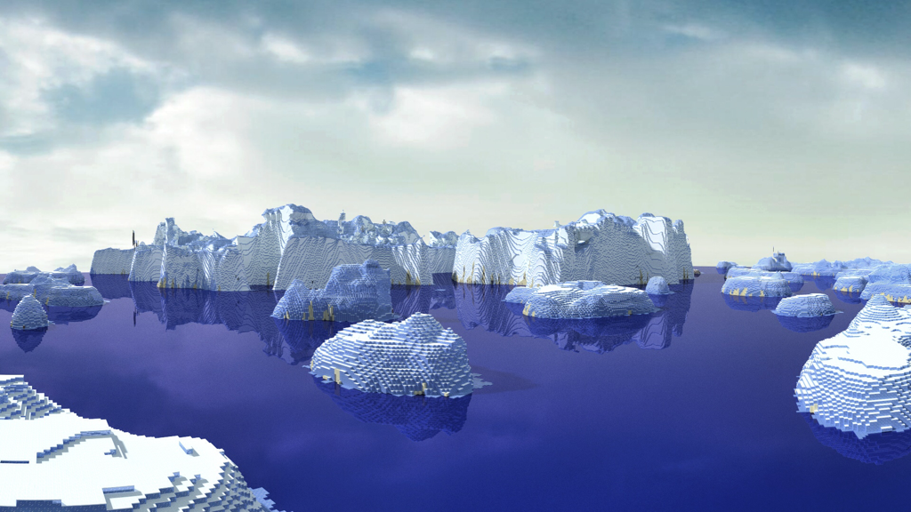 Minecraft Arctic Biome Wallpaper Image