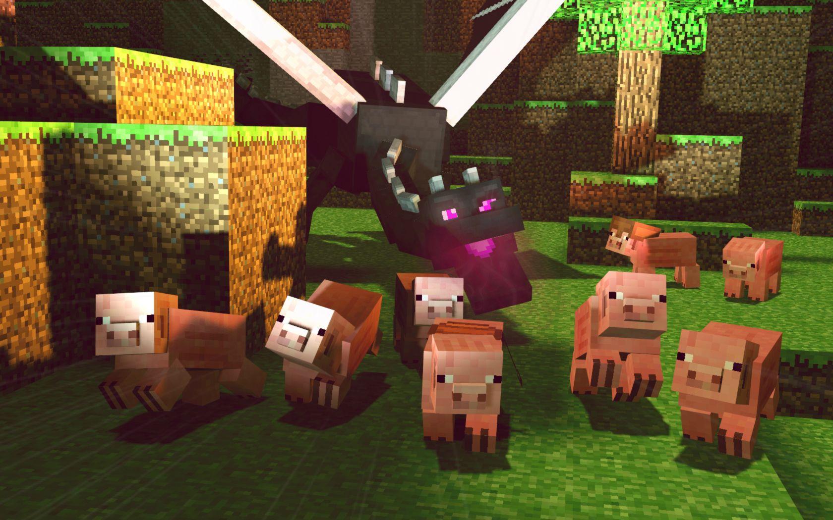 Fond Décran Minecraft Enderdragon