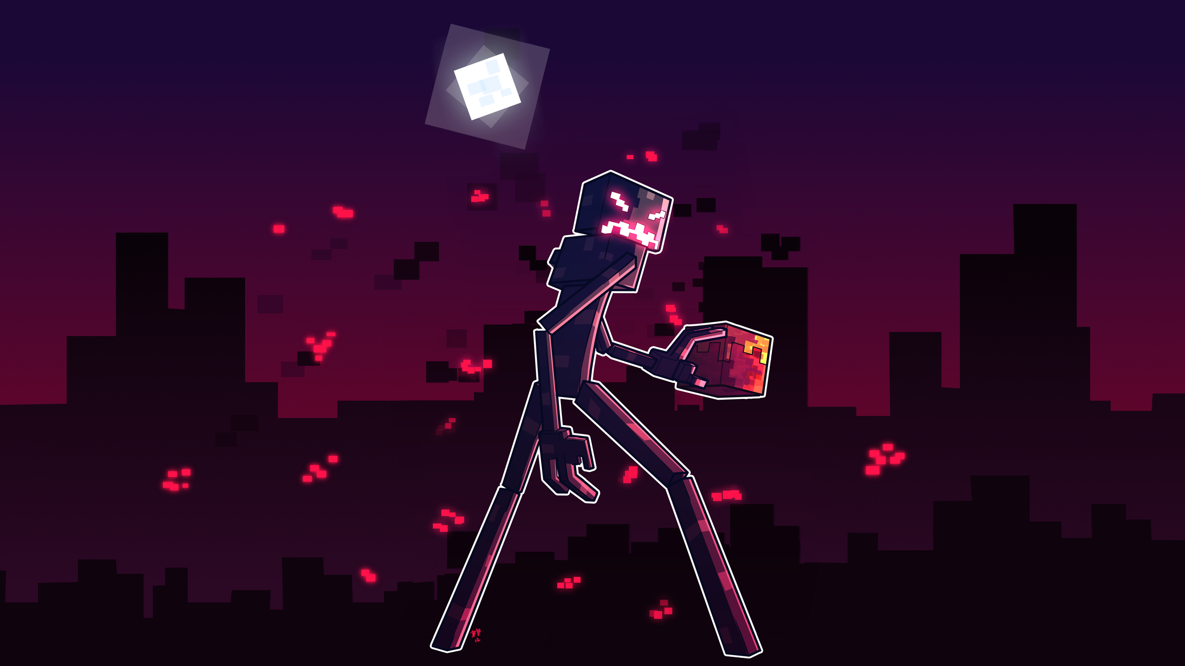 Enderman Wallpaper Image