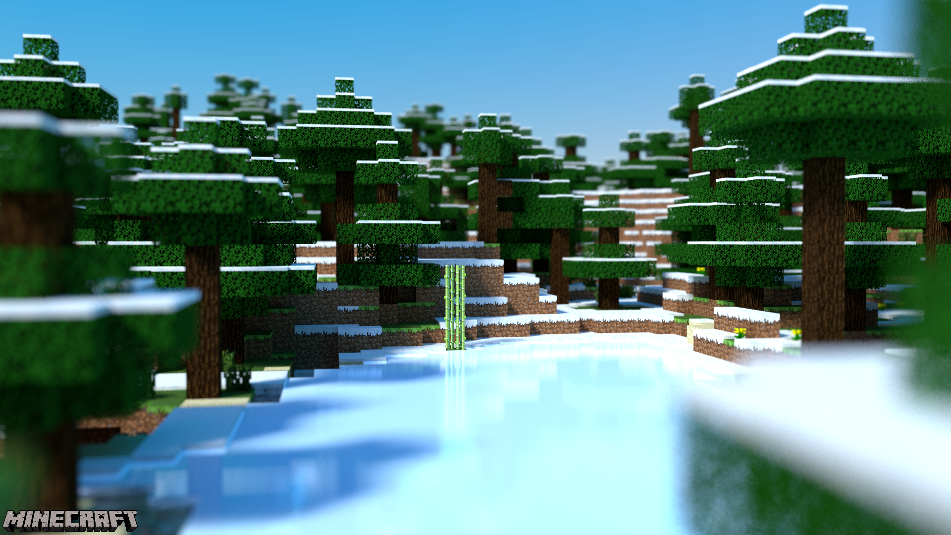 Frozen Minecraft Wallpaper Image
