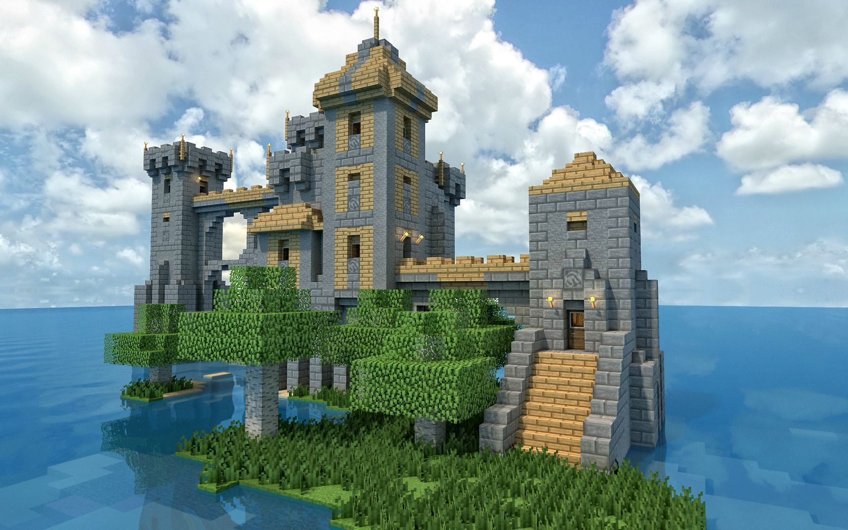 The Island Castle Wallpaper Image