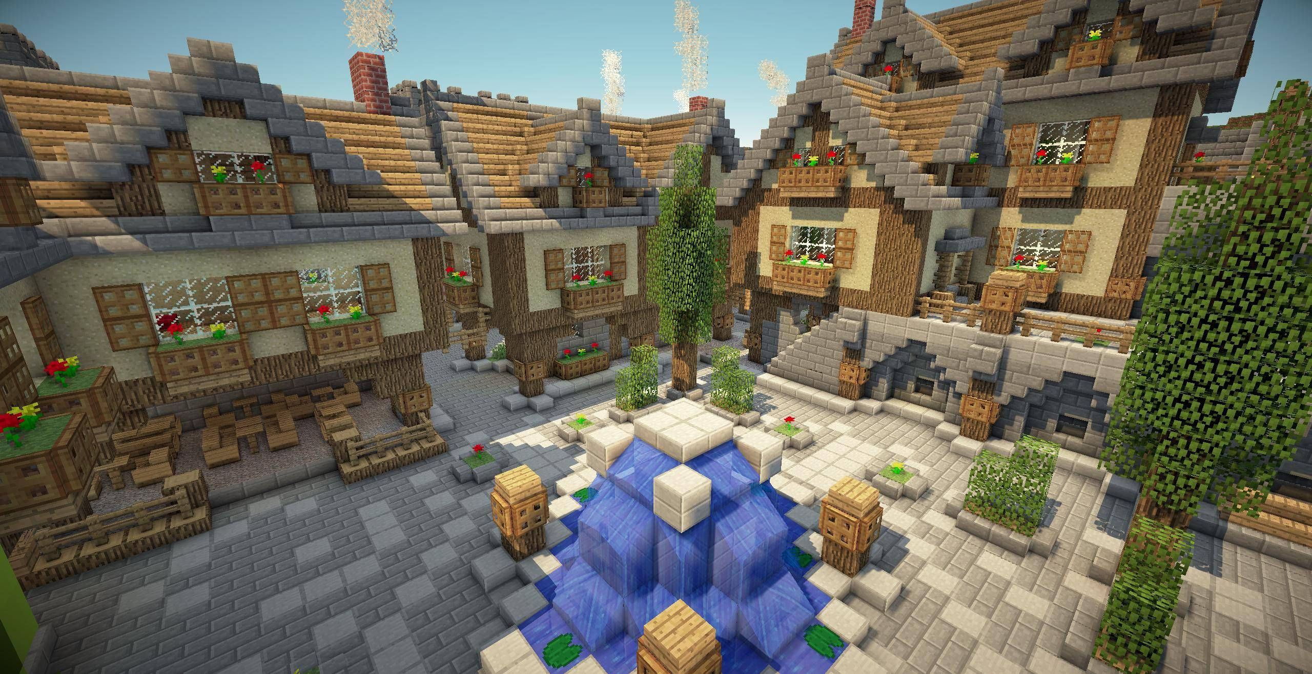 Wallpaper Village Médiéval - The-Minecraft.fr