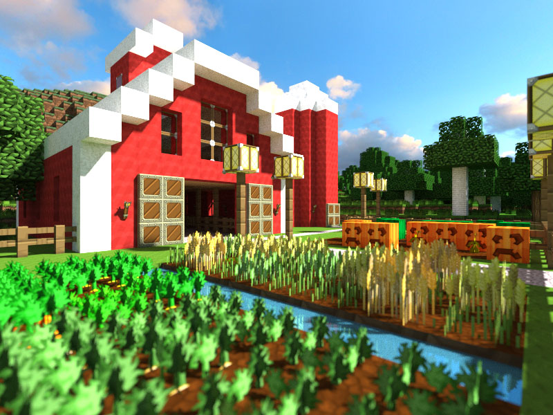 Wallpaper La ferme - The-Minecraft.fr
