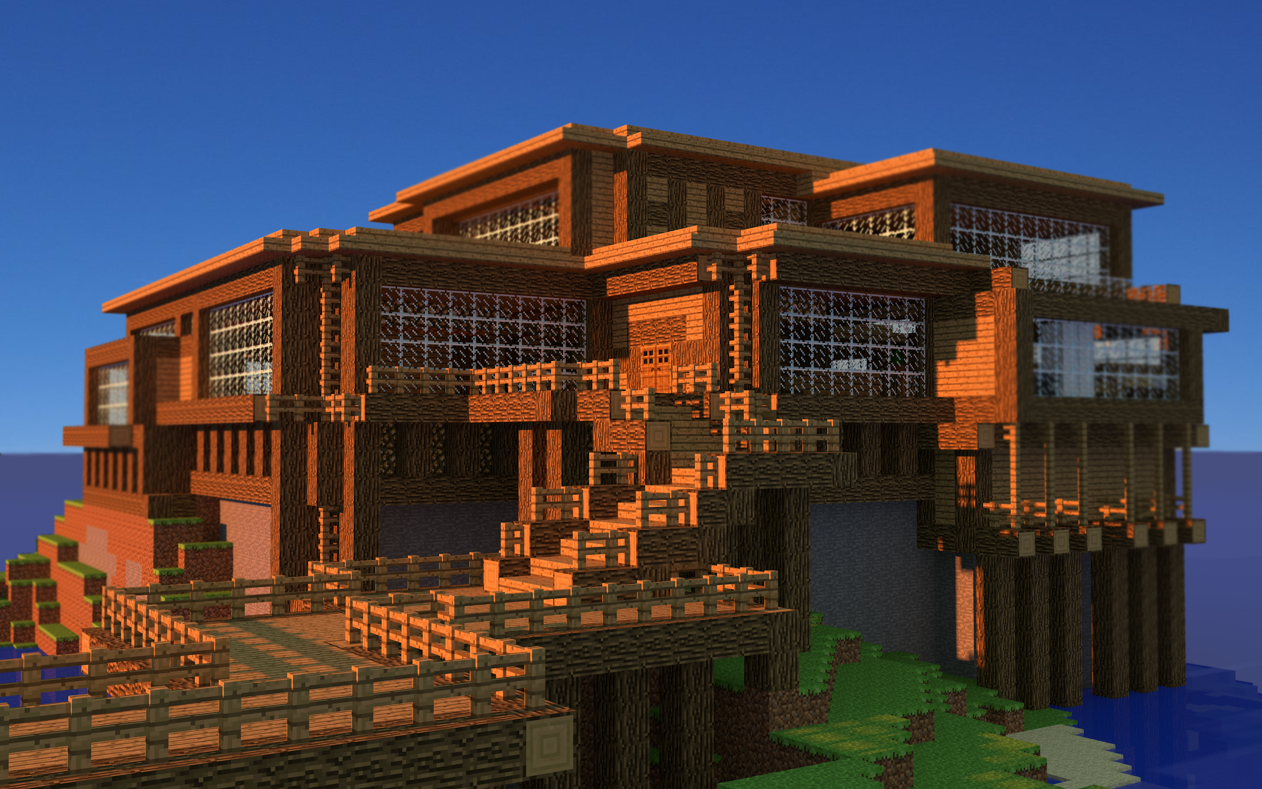 Wallpaper Beach House - The-Minecraft.fr