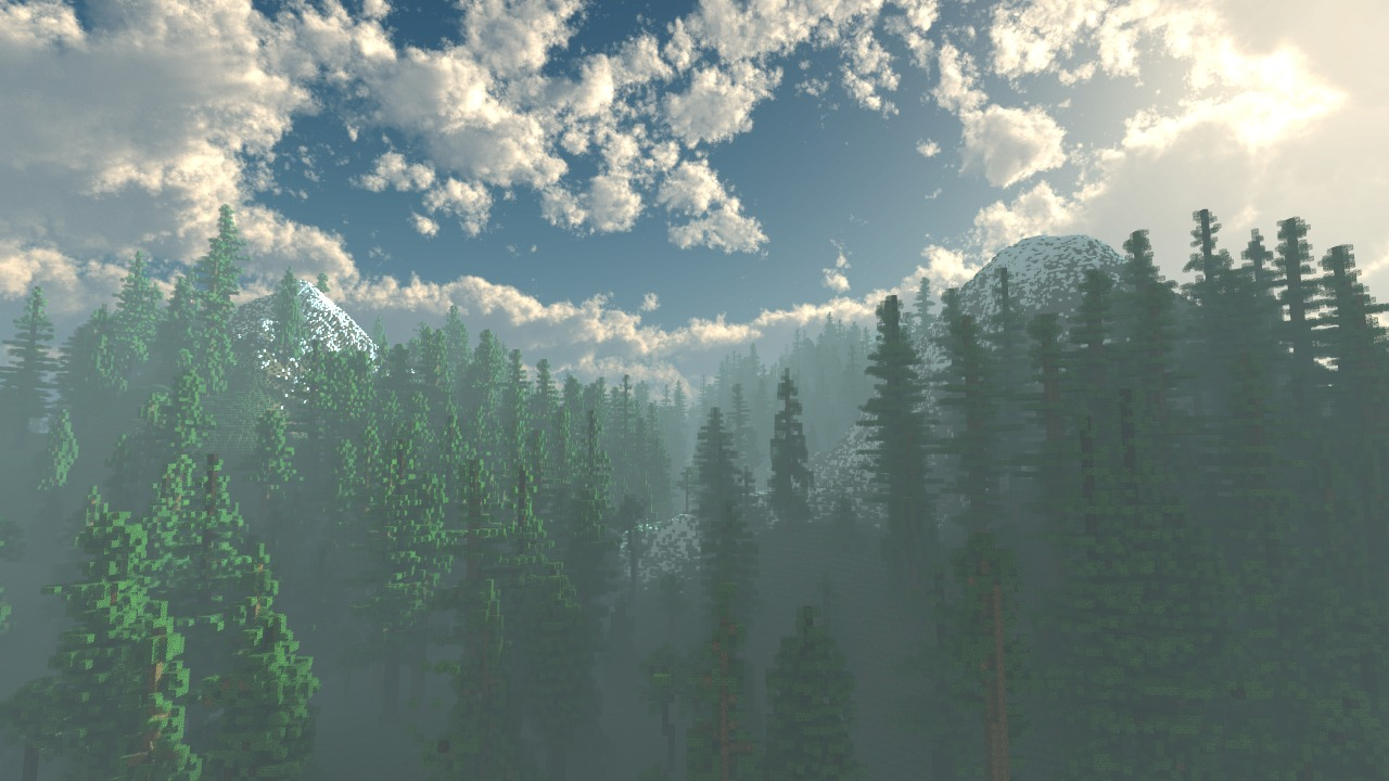 Wallpaper Paysage de Montagne - The-Minecraft.fr