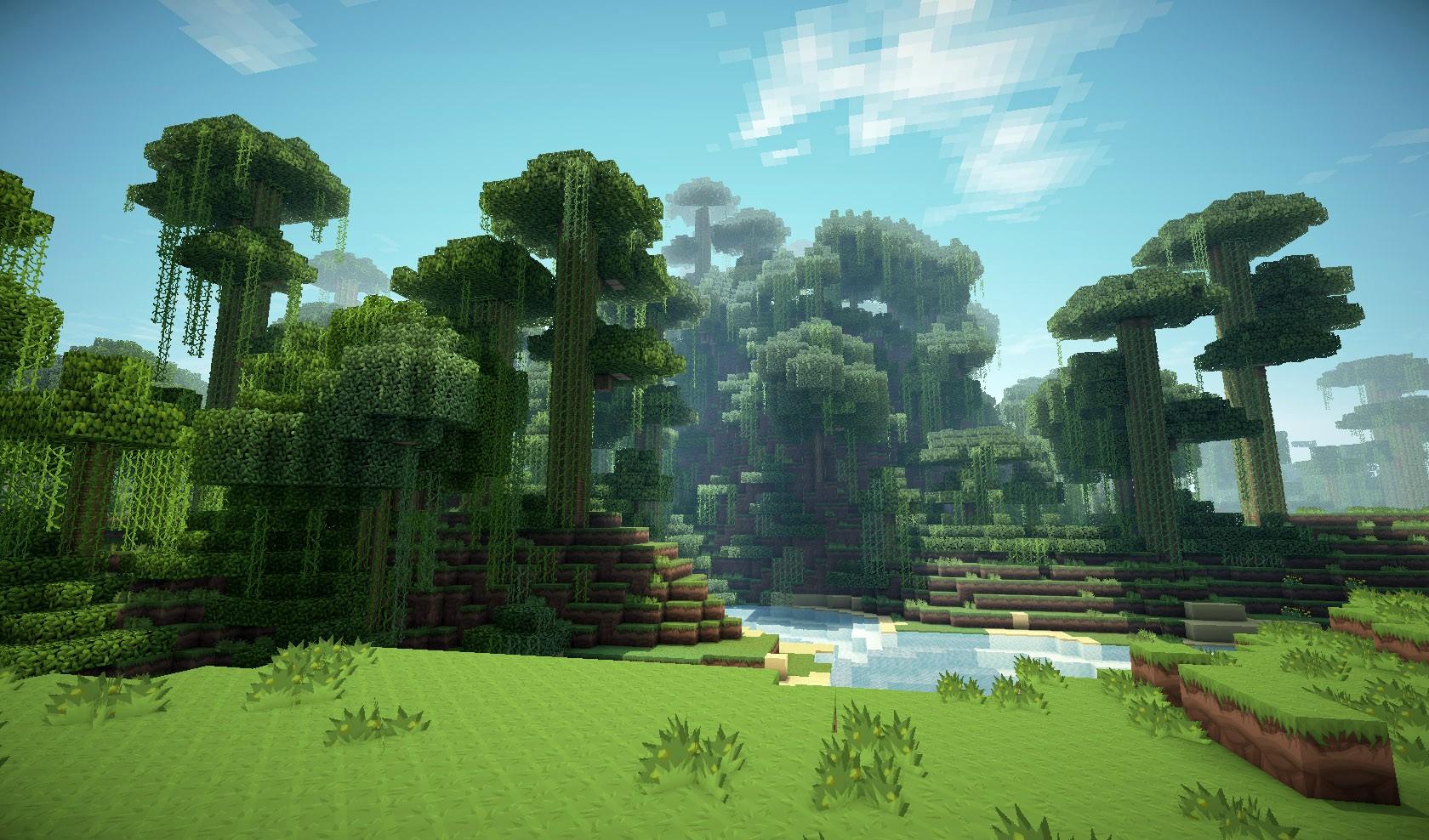 Fond Décran Minecraft La Jungle