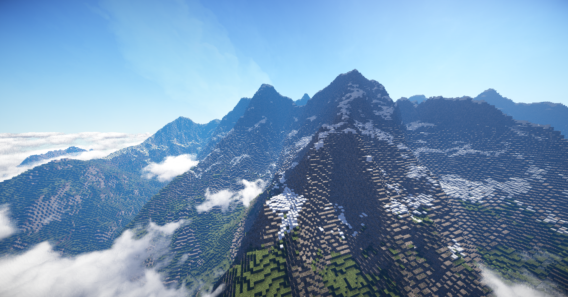 Minecraft Moutains Wallpaper Image