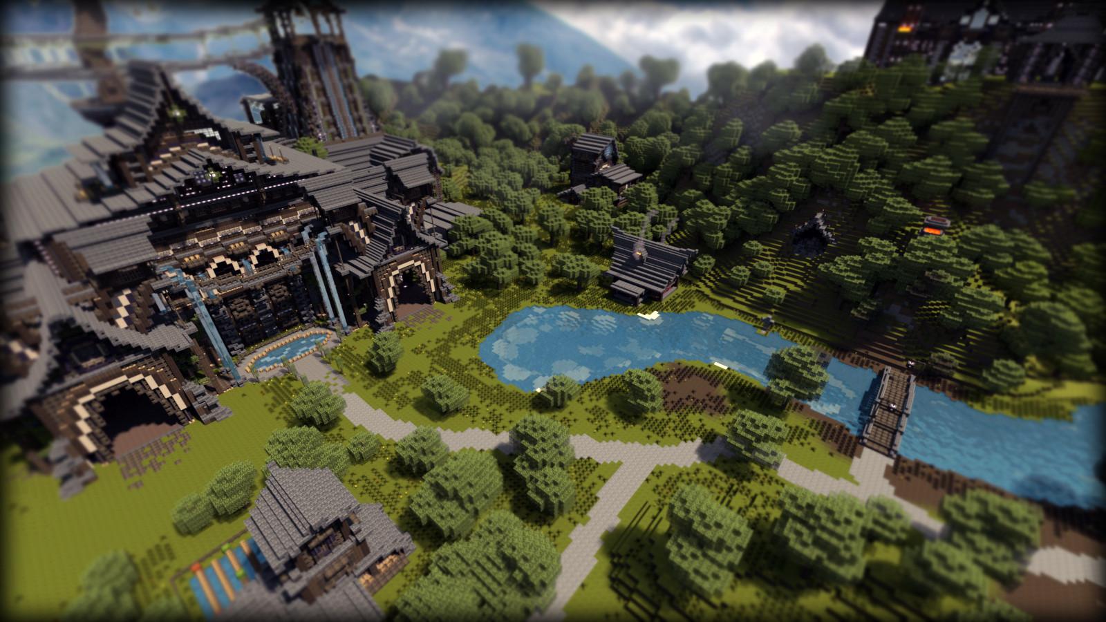 Fond Décran Minecraft Paysage De Forteresse