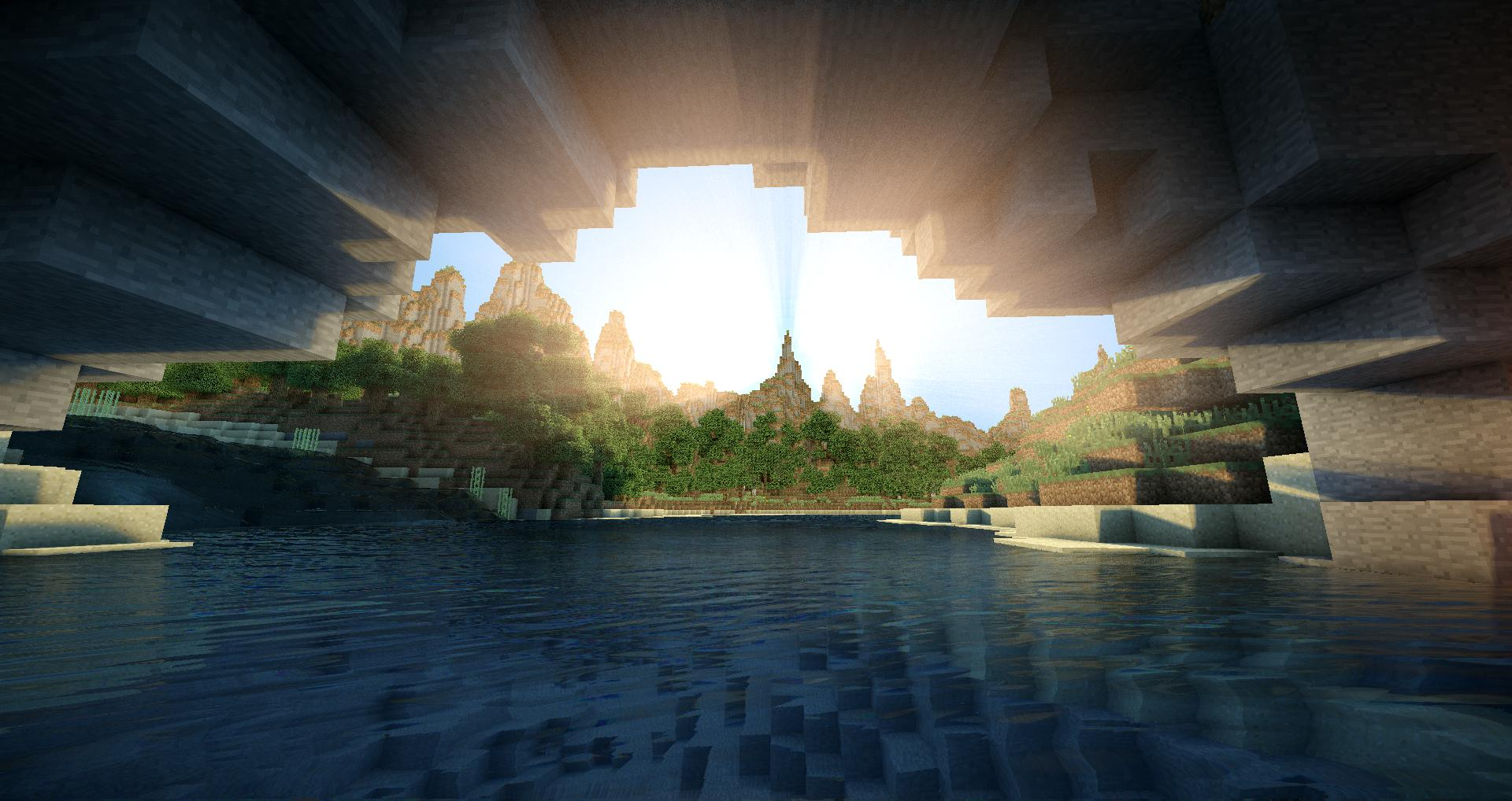 Minecraft Sunrise Wallpaper Image