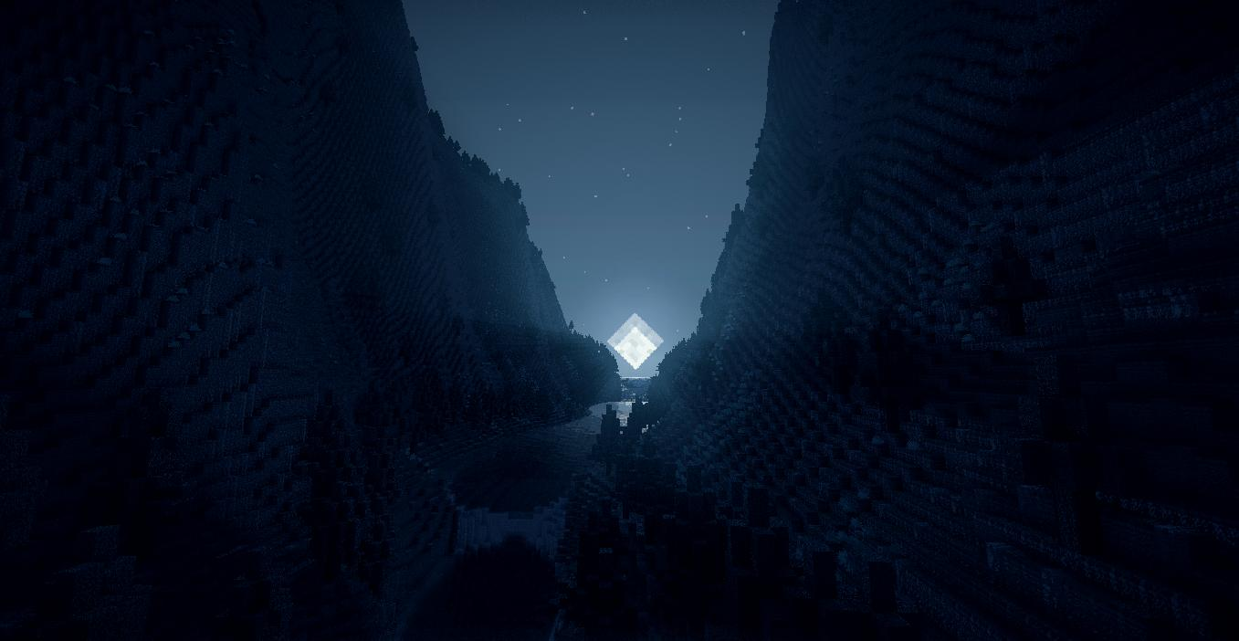 Minecraft Valley Wallpaper Image