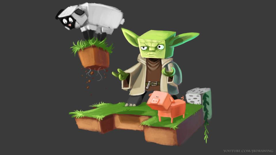 Fond Décran Minecraft Yoda Minecraft