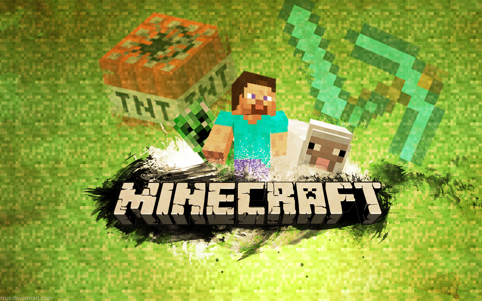 Minecraft fan Wallpaper Image
