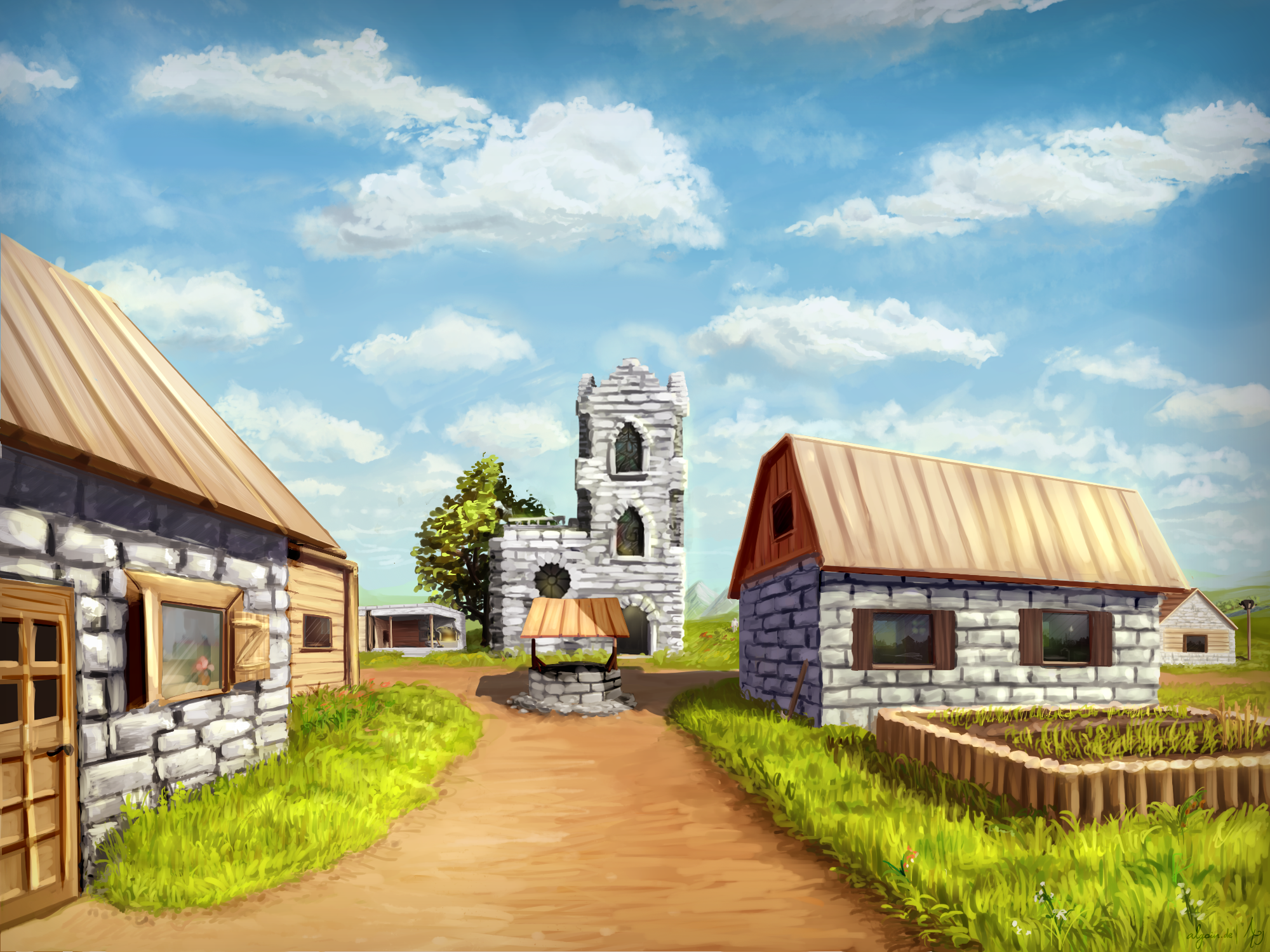 Minecraft Village Wallpaper Image