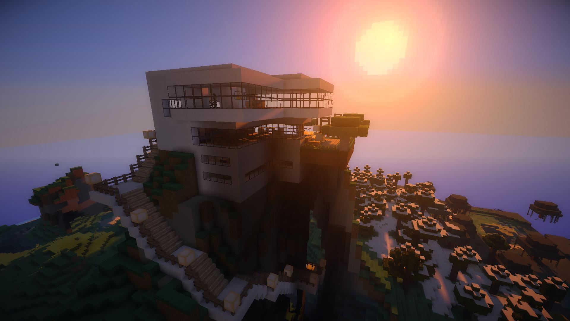 Fabulous Fond d'écran Minecraft : Maison Moderne RY05