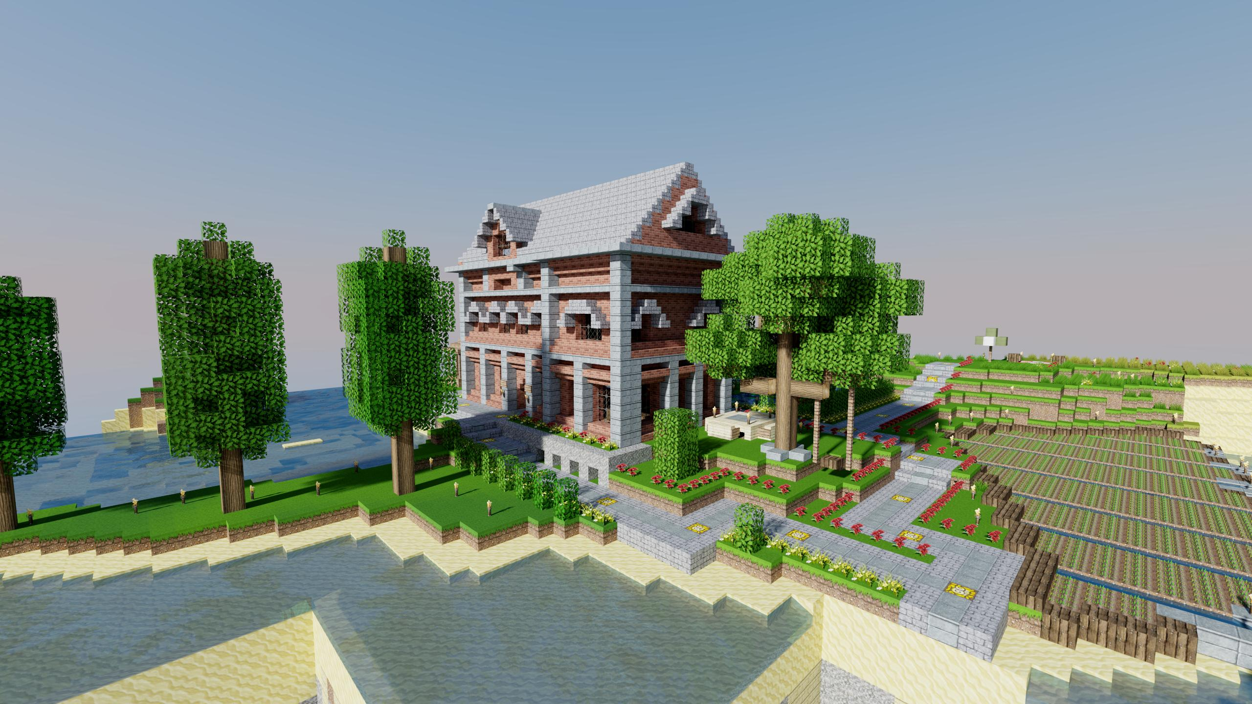 Wallpaper Maison en brique - The-Minecraft.fr