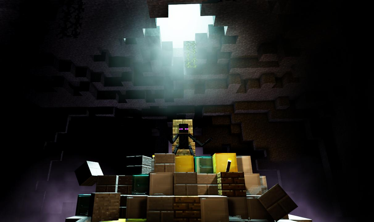 La Caverne des Endermans Wallpaper Image